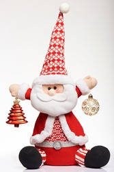 One soft santa claus christmas toy. Christmas pretty gift