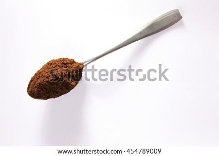 one tea spoon of coffee powder