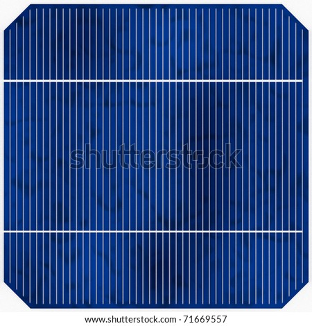 One tile-able blue solar cell with even light (detailed render)