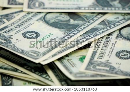 One us dolar banknotes Zdjęcia stock ©