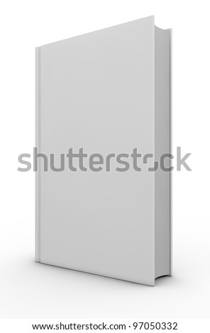 one white book with space for custom text or image (3d render)
