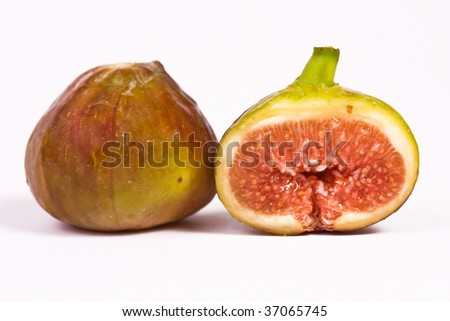 One whole and one half fig