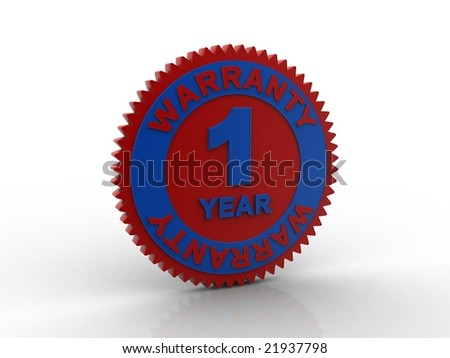 one year warranty - stock photo