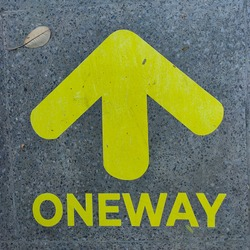 Oneway sign in the malioboro