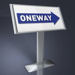 oneway sign indoor