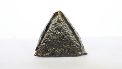 Onigiri is Japanese food, Japanese rice ball, rice triangle with  seaweed, nori isolated on with background