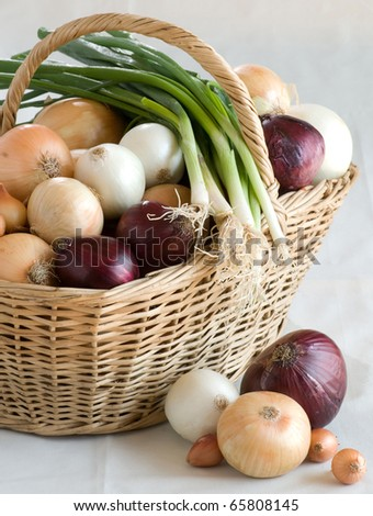 onion in a basket