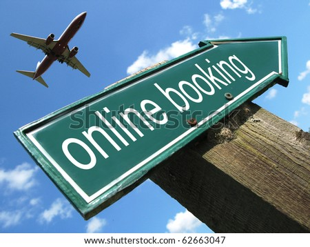 ONLINE BOOKING road sign