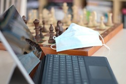 Online chess in Virus time. Wooden pieces on a chessboards. Play Chess Online for all levels. From the cancellation of over the board chess by launching an online tournament. Internet chess