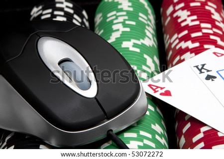 Online chips and cards (casino games)