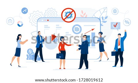 Online Communication Businessman Negotiation, Conference, Meeting. Business Dealing. Finance, Strategic Management, Ecommerce. Partnership for Financial Growth and Profitable Increase after Covid19 Foto stock ©