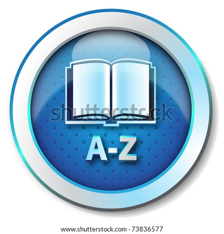 Online Dictionary A-Z icon - stock photo
