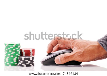 Online Gambling Concept Image - stock photo