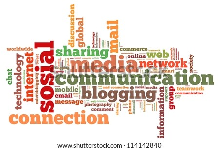 online info-text graphics and arrangement concept on white background (word cloud)