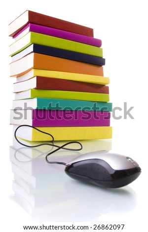 online information access concept (selective focus) - stock photo