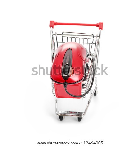 Online Internet Shopping. isolated on a white background