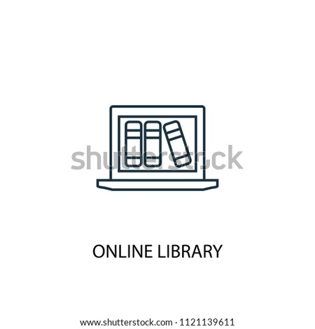 Online library icon. Simple element illustration. Online library symbol design from eLearning collection. Can be used in web and mobile.