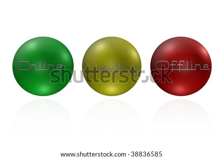 Online loading and offline sphere buttons