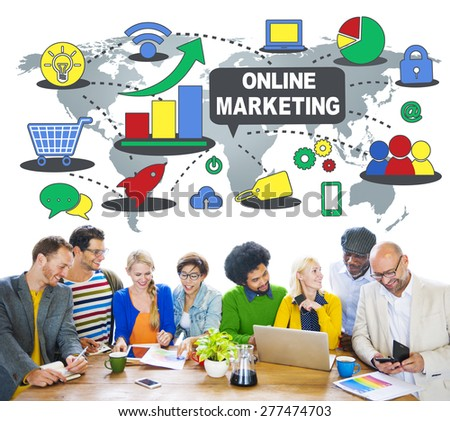 Online Marketing Advertisement Business Concept