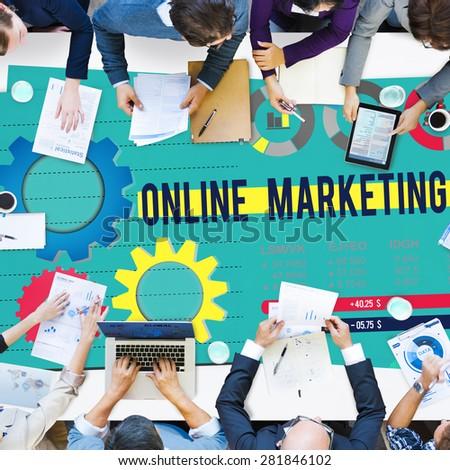 Online Marketing Advertisement Commercial Branding Concept