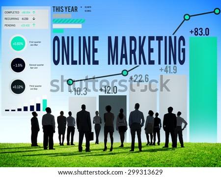 Online Marketing Advertisement Target Promotion Concept