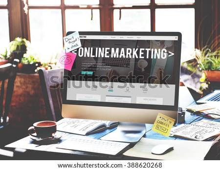 Online Marketing Advertising Branding Commerce Concept - Shutterstock ID 388620268