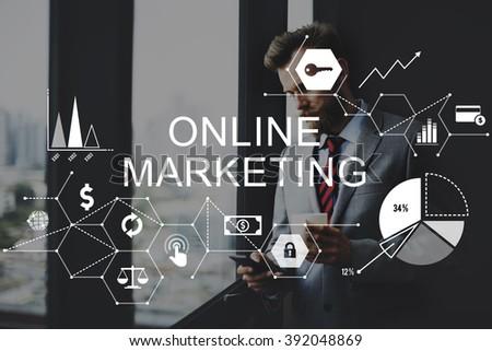Online Marketing Advertising Branding Strategy Concept