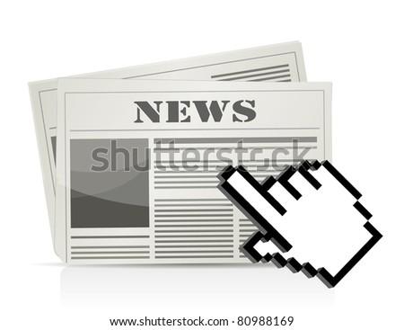 online news cursor concept illustration design