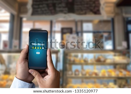 Online Reviews Evaluation time for review Inspection Assessment Auditing  in Cafe or Restaurant #1335120977