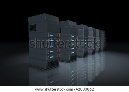 Online servers, network discs, databases.