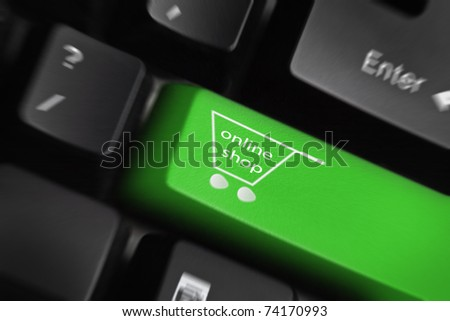 Online shop -The button for purchases on the keyboard
