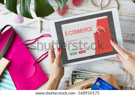 Online Shopping Cart E-Commers Concept