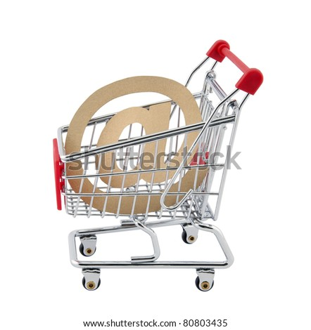Online shopping. Clipping path included.