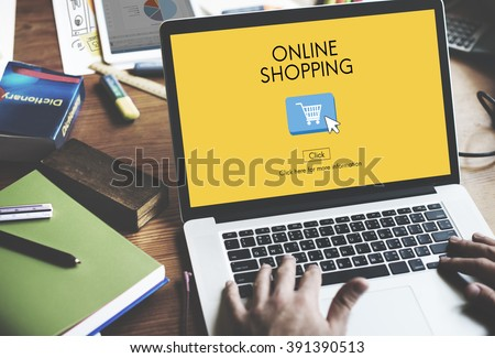 Online Shopping Commerce E-business Concept