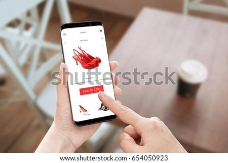 online store app use on modern...