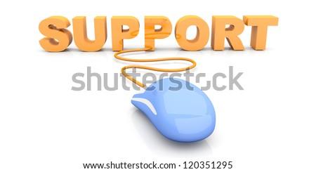 Online Support. 3D rendered Illustration.