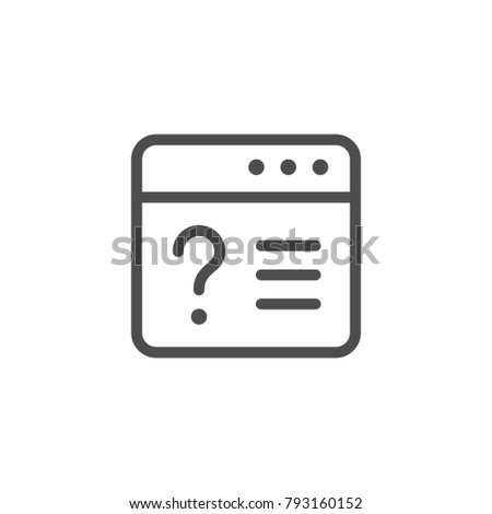 Online survey line icon isolated on white