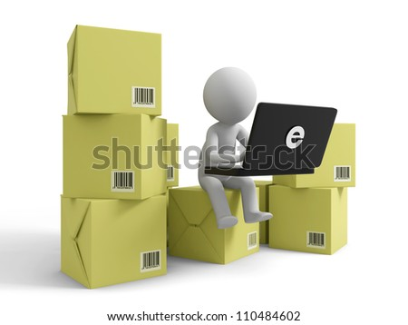 Online trading/A people is to use the computer on several boxes