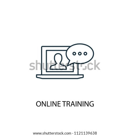 Online Training line icon. Simple element illustration. Online Training symbol design from eLearning collection. Can be used in web and mobile.