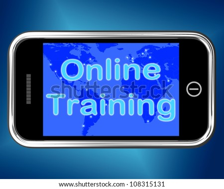 Online Training Mobile Message Showing Internet Learning