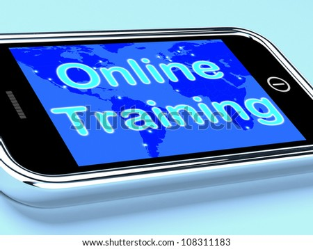 Online Training Mobile Screen Showing Web Learning