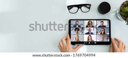 Online Video Conference Meeting Call Or Webinar At Work