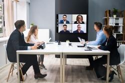 Online Video Conference Social Distancing Webinar Business Meeting