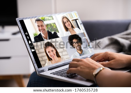 Online Video Conference Webinar Call. Videoconference Meeting