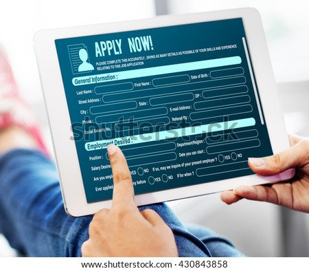 Online Web Job Application Form Concept #430843858