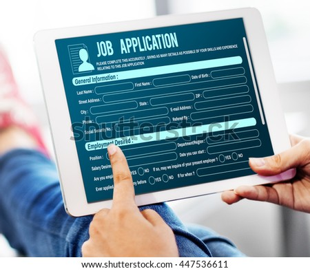 Online Web Job Application Form Concept #447536611