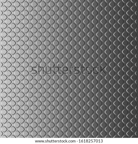 Only vertically seamless background looking like a metal plate with notches. Pattern for creating a vertical infinite strip. Patterns should be placed above or below each other.