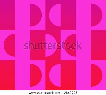 Op Art Facing Apart Fuchsia Red