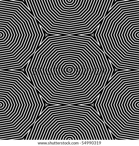 Op Art Only Symmetrical Shapes 04 Seamless