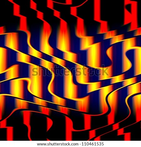 Op Art Seamless Shapes and Waves Texture Red Yellow and Black